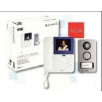 KIT VIDEOCITOFONO 2 FILI COLORI SYMPLY - MIKRA URMET 956/81 MONITOR+ALIM+PULS.