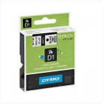 NASTRO PER ETICHETTATRICE DYMO D1 12mm X 7m BLACK/WHITE NERO SU BIANCO  7/8142