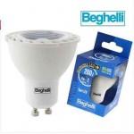 FARETTO LAMPADINA BEGHELLI 56968 4W  35W SPOT LED 280lm CALDA GU10 BASSO CONS