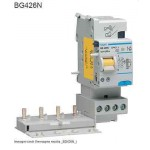 BLOCCO DIFFERENZIALE 4P 0.5A FINO A 25A AC 2M HAGER COD. BG426N