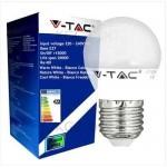 LAMPADA LED MINISFERA ATTACCO E27 6W 6000K LUCE FREDDA BIANCA VTAC V-TAC 4249