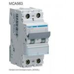 INTERRUTTORE AUTOMATICO MAGN. 1P+N 63A 6KA C 2M HAGER COD. MCA563