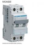 INTERRUTTORE AUTOMATICO MAGN. 1P+N 20A 6KA C 2MOD HAGER COD. MCA520