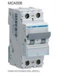 INTERRUTTORE  AUTOMATICO MAGN. 1P+N 6A 6KA C 2MOD HAGER COD. MCA506