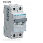 INTERRUTTORE AUTOMATICO MAGN. 1P+N 10A 6KA C 2MOD. HAGER COD. MCA510