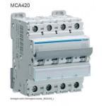 INTERRUTTORE AUTOMATICO MAGN. 4P 20A 6KA C 4M HAGER COD. MCA420