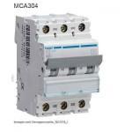 INTERRUTTORE AUTOMATICO MAGN.3P 4A 6 KA C 3M HAGER COD. MCA304