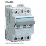 INTERRUTTORE AUTOMATICO MAGN.3P 25A 6KA C 3M HAGER COD. MCA325