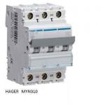 INTERRUTTORE AUTOMATICO MAGN.3P 10A 4,5KA C 3M HAGER COD. MYN310