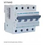 INTERRUTTORE AUTOMATICO MAGN. 4P 40A 4,5KA C 4M HAGER COD. MYN440