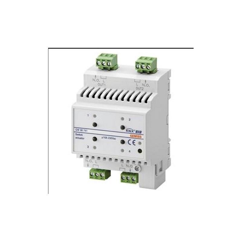 ATTUATORE 4 CANALI KNX DOMOTICA 10A SYSTEM 4M DIN 230VAC CHORUS GW90741  GEWISS