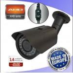 TELECAMERA BULLET DA ESTERNO AHD 1500TVL/960P 2.8-12MM 42 LED NERA