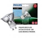 LAMPADINA DecoLed GU10 - 1W LUCE FREDDA PHILIPS COD. 536089