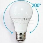 LAMPADINA SFERA LED 10W E27 A60 6000°K 230V LUCE BIANCA FREDDA VTAC V-TAC 4227