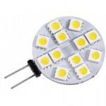 LAMPADINA DISCO LED ATTACCO G4 SPILLO 2,4W 12V 6000K LUCE FREDDA OPTONICA SP1604