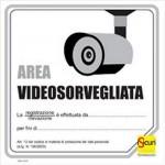 CARTELLO PVC TVCC SEGNALAZIONE AREA VIDEOSORVEGLIATA 300X300 ISICURI 21157