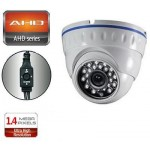 TELECAMERA ANALOGICA AHD 3.6mm MINIDOME 1500TVL / 960P  24IR 1.4MP BIANCA ENVIO