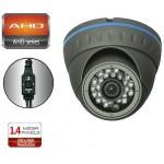 TELECAMERA ANALOG AHD MINIDOME 1500TVL 960P 24IR 1,4MP 3.6mm ANTRACITE ENVIO