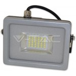 PROIETTORE SMD LED SLIM 20W 6000K LUCE FREDDA IP65 NERO-GRIGIO VTAC V-TAC 5705