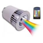 LAMPADINA RGB 5W GU10 230V 150lm CON TELECOMANDO INFRAROSSI LAMPO DIKLED5WRGB