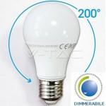 LAMPADINA LED E27 10W 230V 2700°K BIANCO CALDO DIMMERABILE V-TAC VTAC 4282