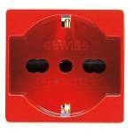PRESA ITA/TED 250Vac 2P+T 16A BIVALENTE P30-P17 2M ROSSO GEWISS SYSTEM GW20296