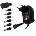 ALIMENTATORE UNIVERSALE STABILIZZATO REGOLABILE 3-12Vcc 6+USB ELCART 13/00242
