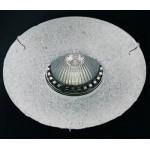 SPOT INCASSO VETRO DI MURANO BIANCO GU10 D. 12cm FORO 7cm NEW ORALIGHT 442/F.CR