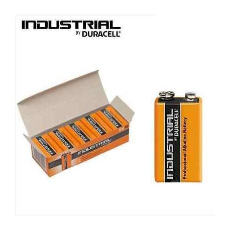 Batteria singola alcalina 9v 6lr61 duracell industrial for Porta batteria 9v