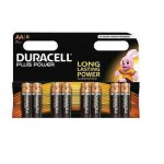 BATTERIA ALCALINA STILO AA PLUS POWER 1.5V BLISTER 8 PZ. DURACELL MN15008