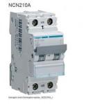 INTERRUTTORE AUTOMATICO 2P 10A 10KA C 2MOD HAGER COD. NCN210A