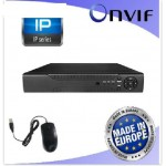 NVR VIDEOREGISTRATORE DIGITALE IP 4 CANALI 5MP HDMI 4K ONVIF H.265 CLOUD ENVIO
