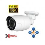 TELECAMERA BULLET 4IN1 AHD TVI CVI CVBS 2 MP 1080P 3.6MM IP66 BIANCA 18IR CV029B