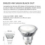 LAMPADINA LED GU10 4W LED EMERGENZA ANTI BLACKOUT BATTERIA 230V 4000K DIKLED4WB