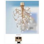 LAMPADARIO ORO LACCATO 230V 20 LUCIxE14 FLESSIBILI METALLO NEW ORALIGHT 335/20OL