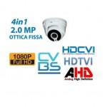 TELECAMERA MINI DOME 2.0MP 1080P 4in1 HDCVI/TVI/AHD/CVBS OTTICA FISSA SE-DH18-36