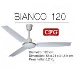 AGITATORE SOFFITTO BIANCO 3 PALE DIAM. 120CM 3 VELOC. 220V 60W C/REGOL CFG EV024