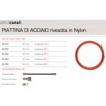 SONDA PIATTINA PASSACAVI IN ACCIAIO RIVEST NYLON D 6mm 40M M5 ARNOCANALI A6.040