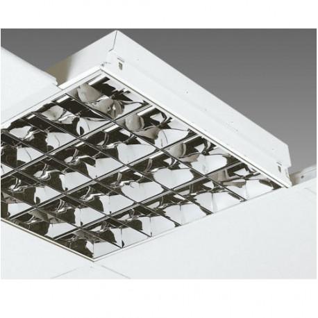 PLAFONIERA INCASSO CONTROSOFFITTO 4 X 18W PER TUBI LED 60x60 CM ALMALUX 441010