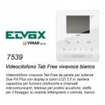 VIDEOCITOFONO PARETE VIMAR ELVOX 7539 TAB FREE VIVAVOCE BIANCO