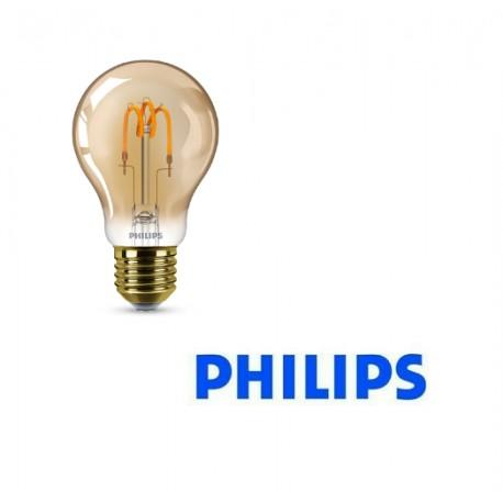 LAMPADINA GOCCIA LED A60 CLASSIC VINTAGE 2.3W-14W E27 GOLD 230V 2000K PHILIPS