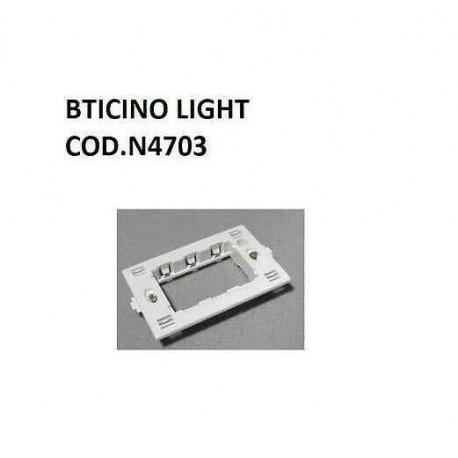 SUPPORTO PLACCA PLACCHE A 3 MODULI 3P BTICINO PER SERIE LIVING LIGHT N4703