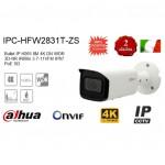 TELECAMERA IPC-HFW2831T-ZS DAHUA BULLET IP 8 MPX 4K IR 60m 3.7-11 mm IP67 PoE